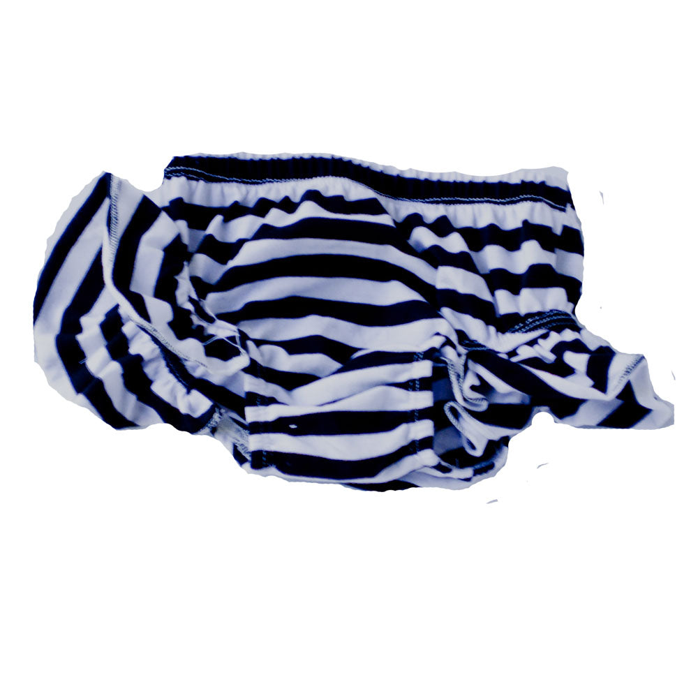 Flutter Bloomers Black and white stripes
