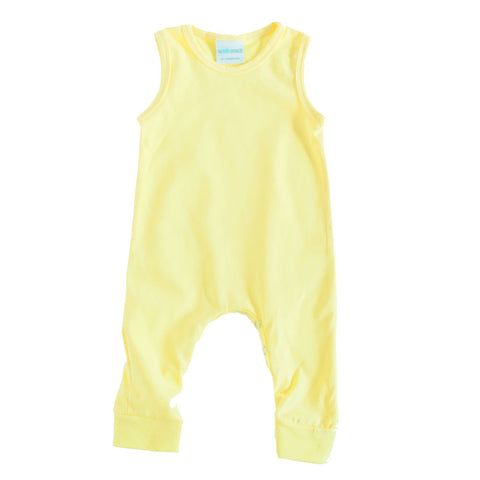 Tank Romper Buttery Yellow