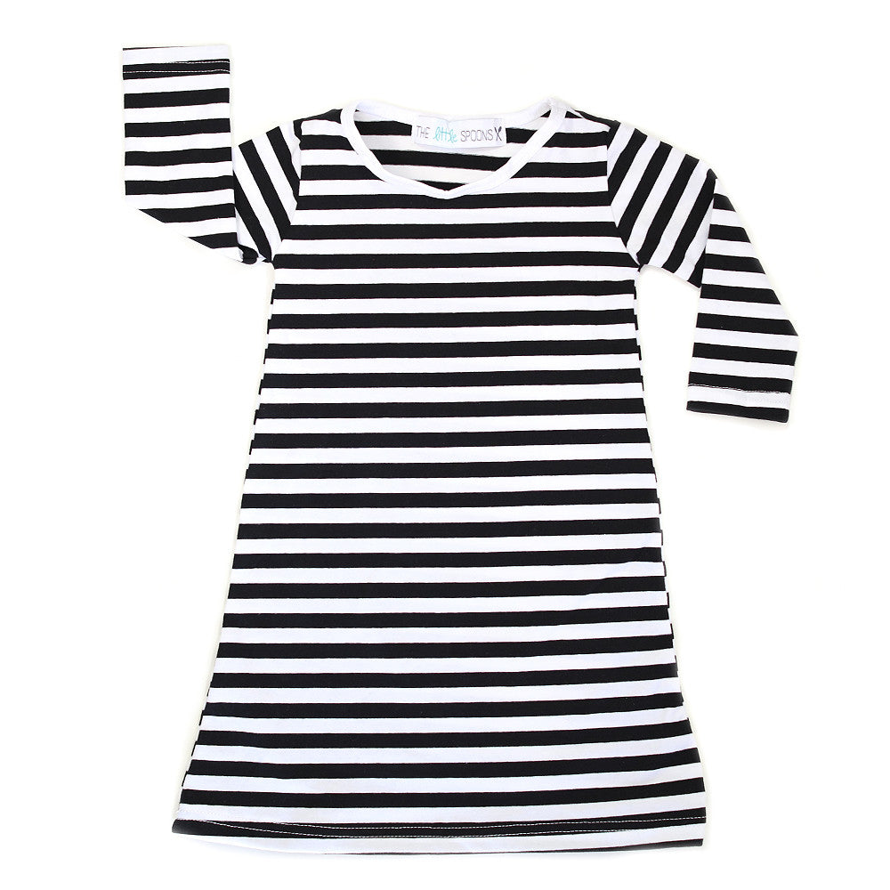Black & White Stripe Play Dress
