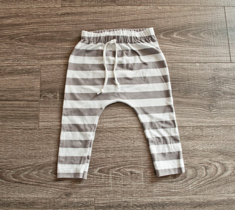 DOOR BUSTER: Gray Stripe Slim Joggers