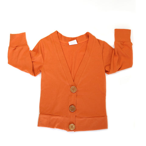 Everyday Cardigan Burnt Orange