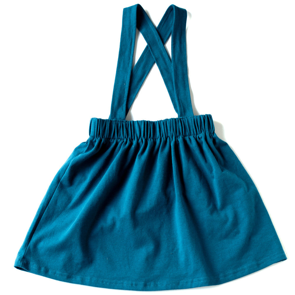 Peacock Blue Suspender Skirt