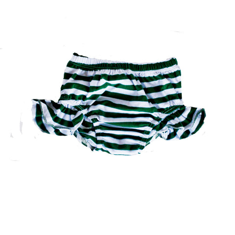 Flutter Bloomers Pine Green Stripe