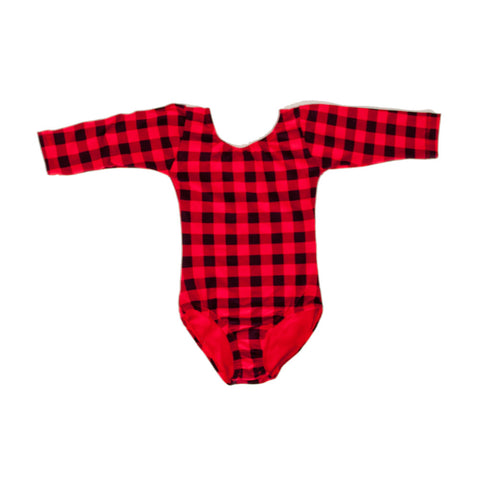 Leotard Long Sleeve Buffalo Plaid