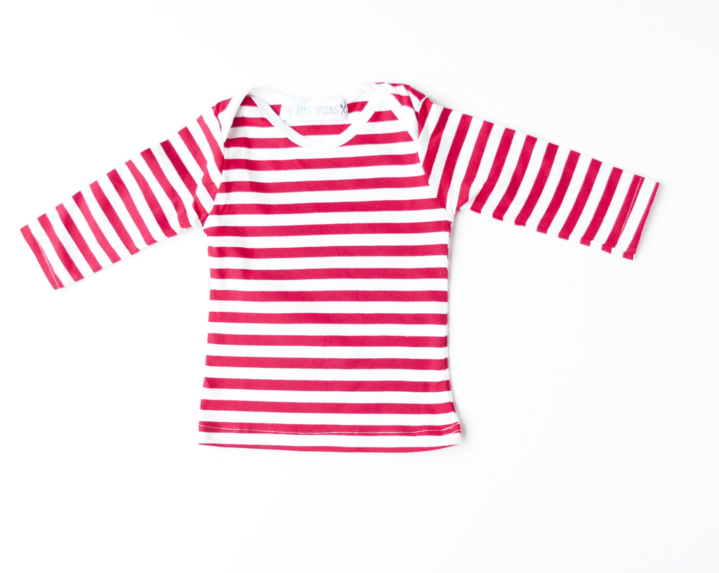 Everyday Basic Tee Red/White Striped