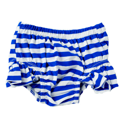 Flutter Bloomers Royal Blue and white stripes