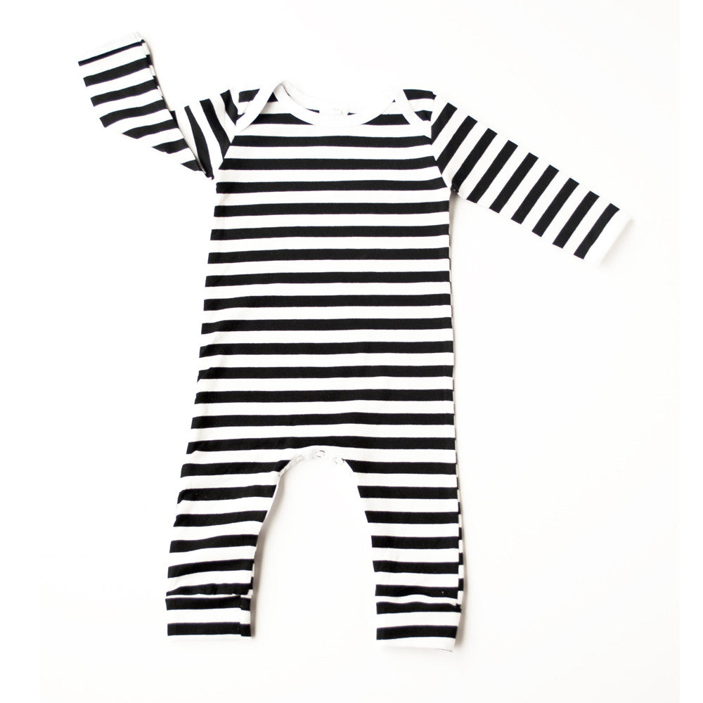 Black and white stripe Romper