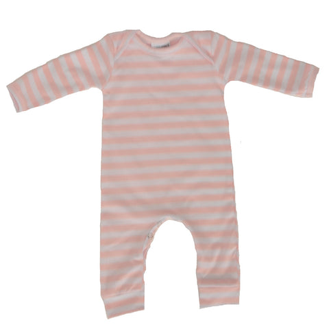 Romper Long Sleeve Sweetheart Pink stripe