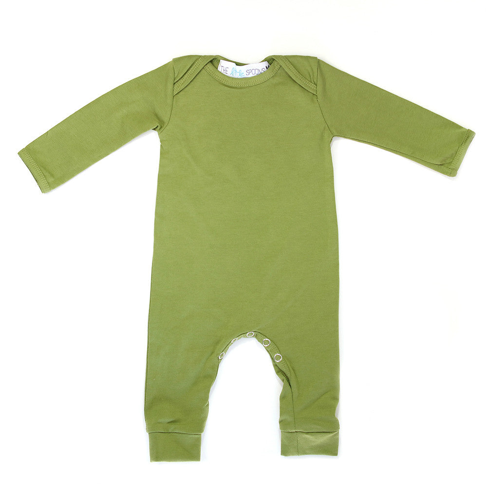 Romper Long Sleeve Olive Green