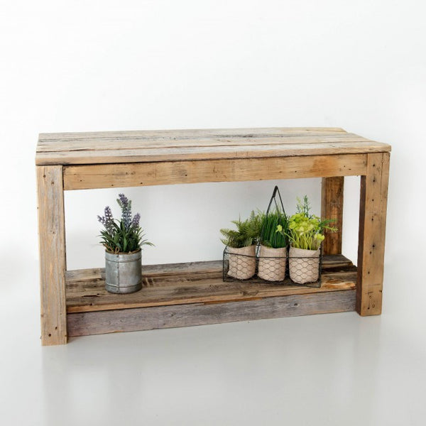 Reclaimed Wood Entry Bench