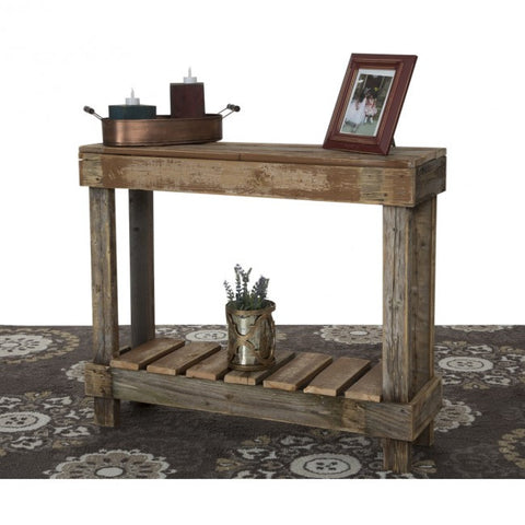 Reclaimed Wood Entry Table
