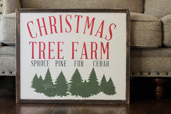 Christmas Tree Farm Wood Sign
