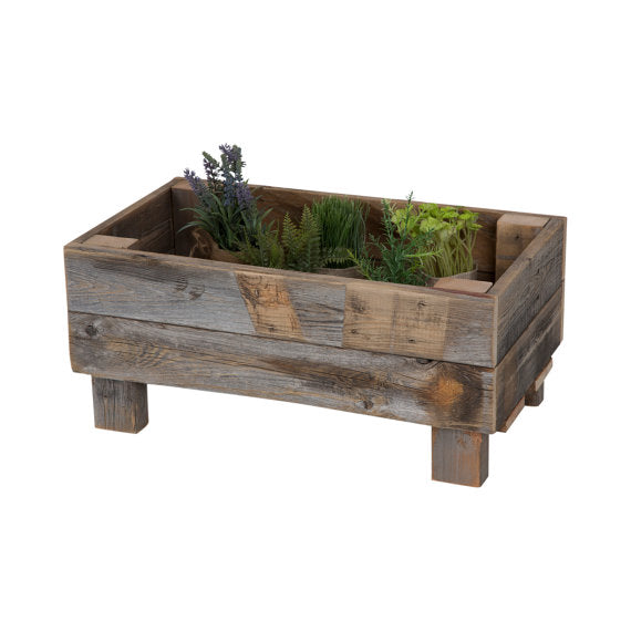 Rustic Elevated Gardening Bed