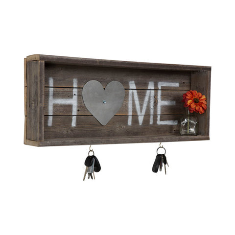 Reclaimed Wood Home Shadow Box