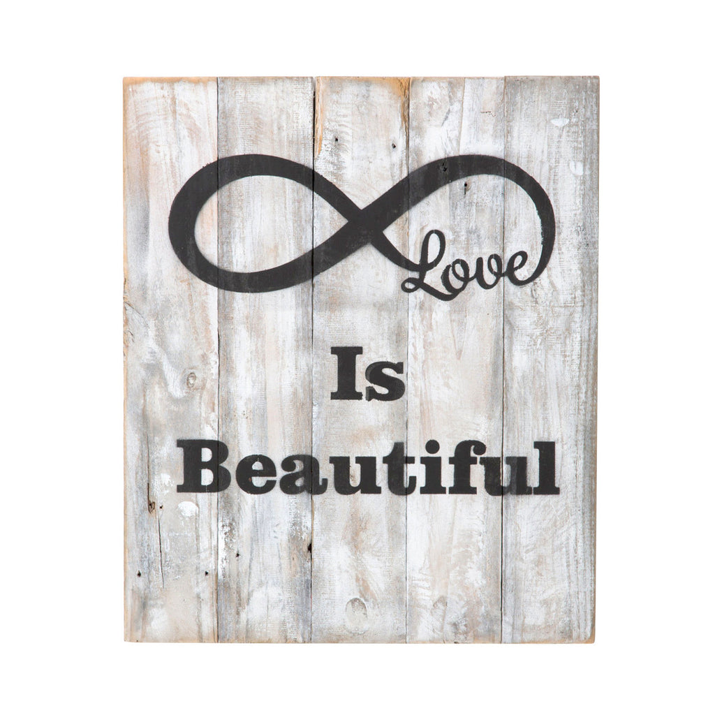 Reclaimed Wood Infinity Symbol (Love Is Beautiful)