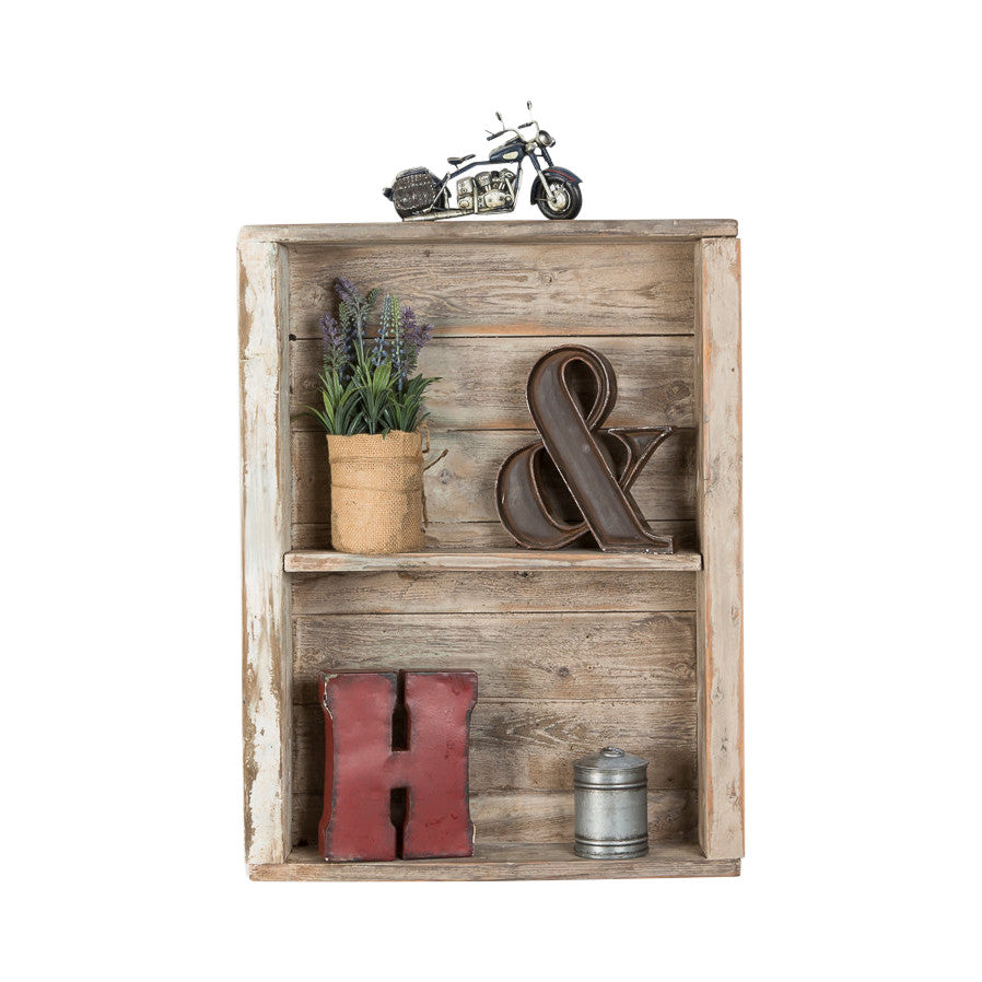 Rustic Wood Wall Shelf