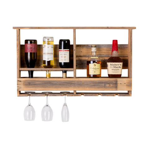 The Barn Wood Bar Rack