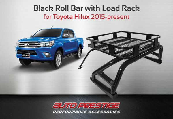 Ford Fiesta Roof Rack >> Black Roll Bar with Roof Rack for Toyota Hilux 2015-present – Auto Prestige