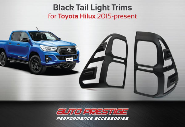 black tail light trims  toyota hilux revo  auto prestige