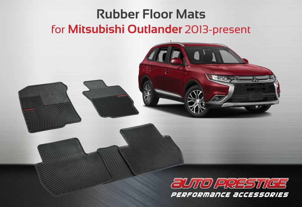 Rubber Floor Mats For Mitsubishi Outlander 2013 Present