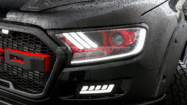Led Headlights For Ford Ranger 2015 Present Red Auto