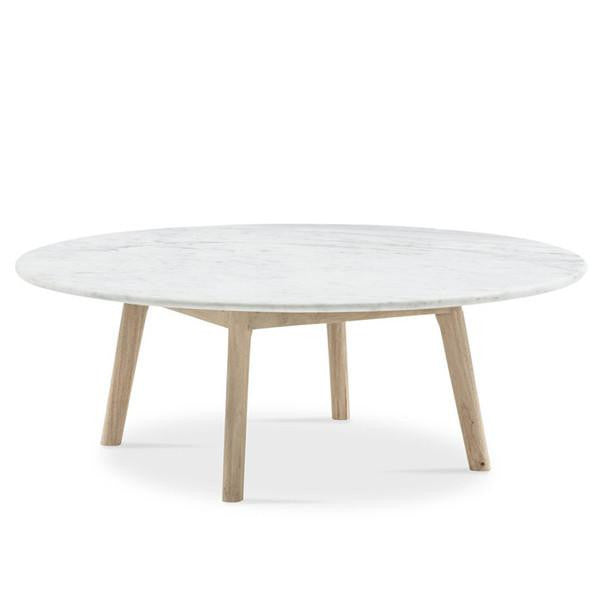 Round Marble Coffee Table Low