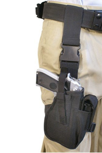 TufForce Universal Tactical Leg & Thigh Pistol Holster, black, TG-HT200B, Shipping from Michigan