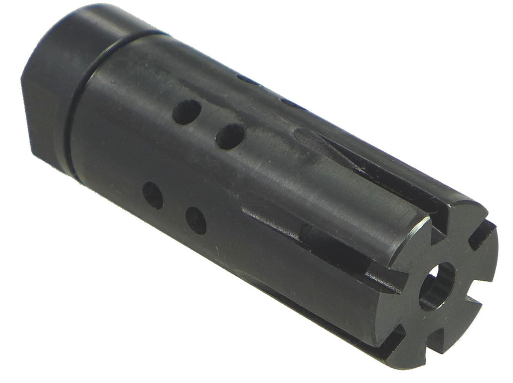 "Two piece Muzzle Brake with adapter 13/16-16 To Thread 1/2"" - 28 or 9/16""-2, 4 or 5/8""-16 or M14X1 Left; MB-53R9Z-04"