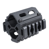 5 Slots Shotgun Tri-rail Barrel Mount for Shotgun, 20-12 Gauge & Paint Ball,MT-3B25F5