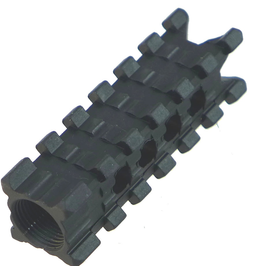 Tufforce New 4-side Rail Muzzle Brake For AK 47, M14X1 Left internal thread,  MT-4L70K2, for 7.62x39, 7.62x56