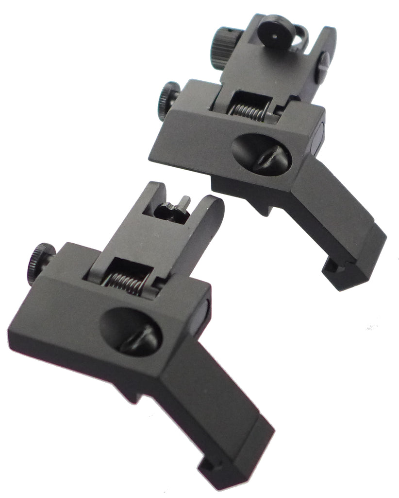 Foldable 45 ° Shooting Sight, Front Sight and Rear sight, a Pair