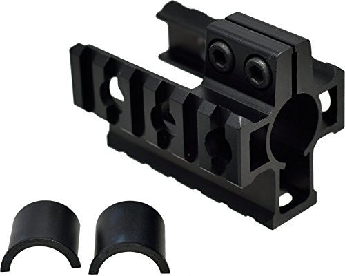 "Tufforce New version Tri-Rail Barrel Mount on Front  Sight  of 0.75"" or 0.625"" Barrel Diameter of AR15, M4, M16, 42mm Width Between Two side Mount"