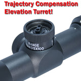 "Tufforce 3-9X42 Compact Scope, 1"" tube, Etched Glass Reticle, Red & Green, SC39-42IM2, Shipping from MI, U.S"