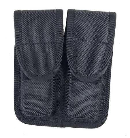 TufForce Molded Double Mag Pouch, TG-BD-22 , with Hidden Snap, Nylon, Black