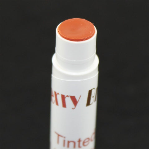 Coral Tinted Lip Balm Close up