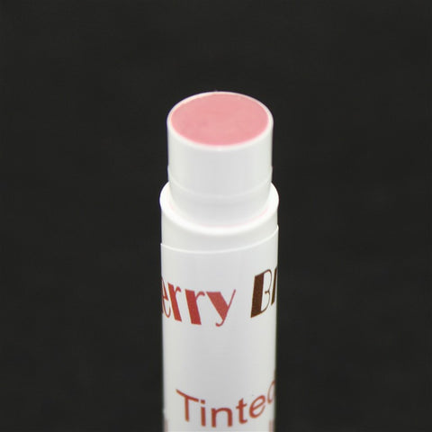 Lacey Pink Tinted Lip Balm Close up