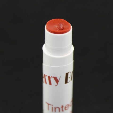 Rusty Red Tinted Lip Balm Close Up