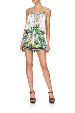camilla daintree darling shoestring strap playsuit