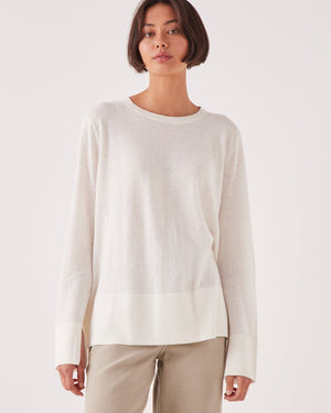 assembly label lora knit antique white