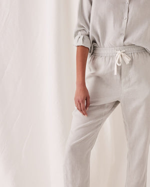 assembly label anya linen pant green mist