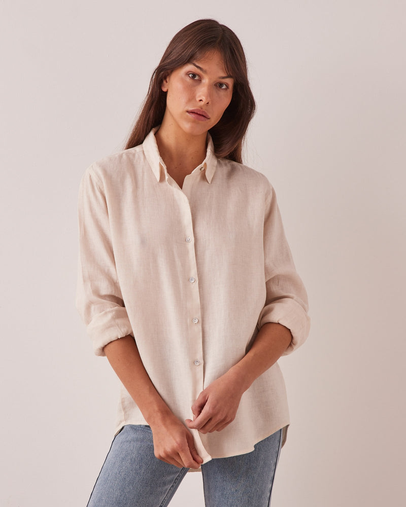assembly label xander shirt ivory