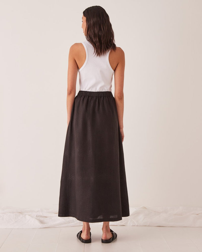 assembly label noma linen skirt black