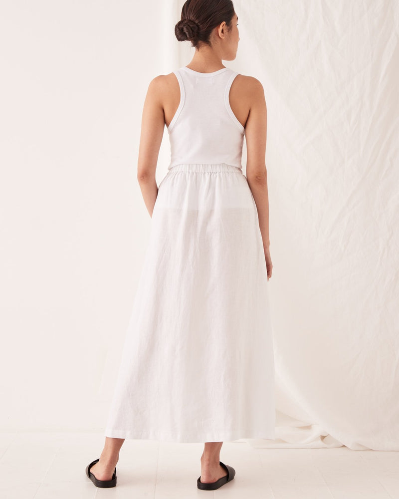 assembly label noma linen skirt white