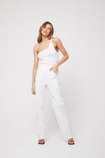 apparel by rozalia x atoir the one shoulder top white