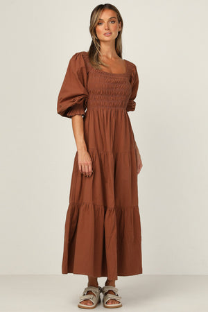 mika maxi dress chocolate