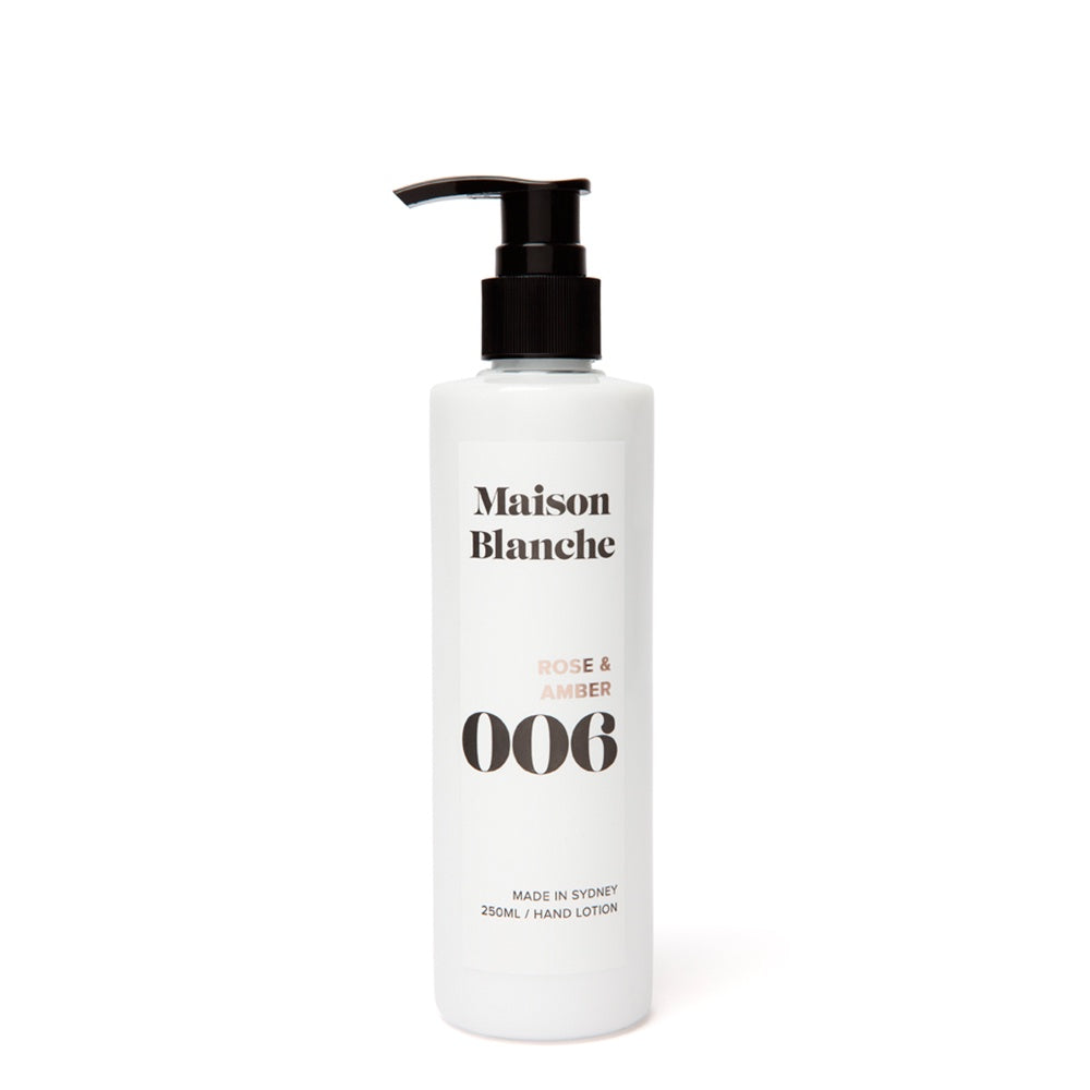 maison blanche rose and amber hand lotion