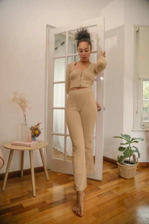 summi summi luka flared pant tan