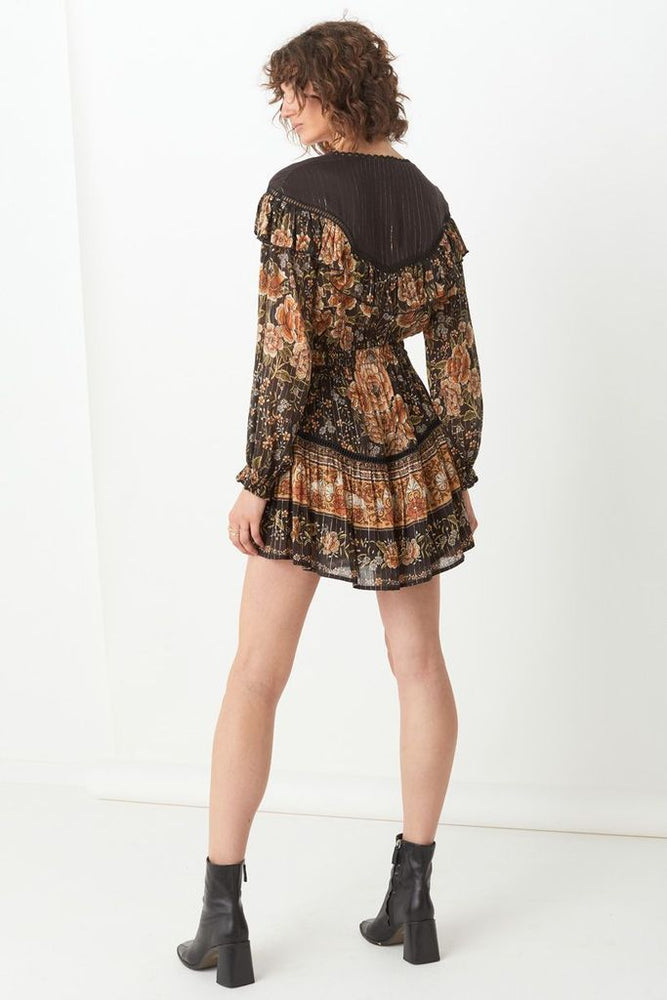 spell mystic mini dress nightfall