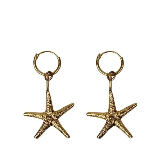 a la big starfish earrings