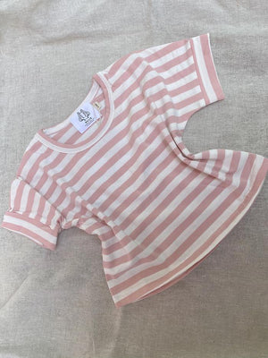 by billie play top pink stripe